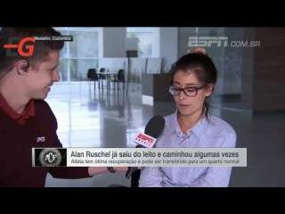 Noiva chora ao relatar primeiros passos de Alan Ruschel após acidente 'Encantou o mundo'