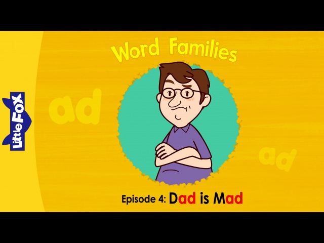 Word Families 4 Dad is Mad Level 1 By Little Fox