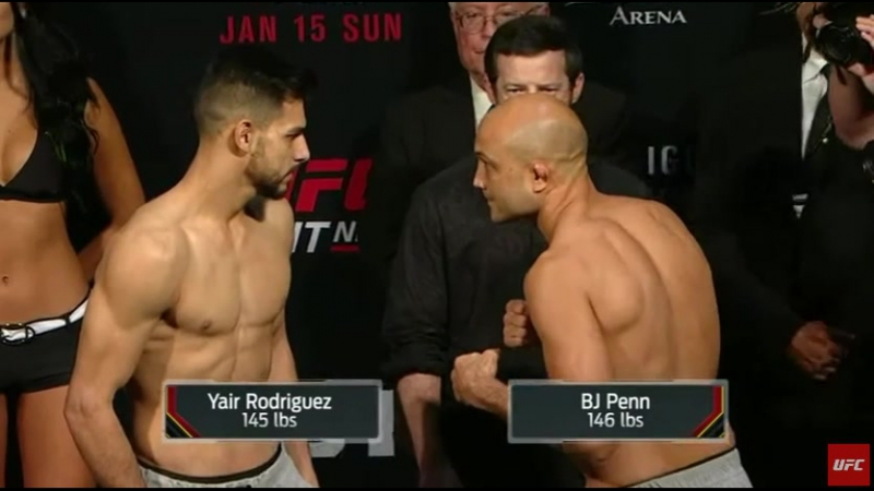 Яир Родригес VS Би Джей Пенн битва взглядов BJ Penn vs Yair Rodriguez staredown