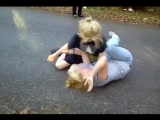 Amanda Letson (Me] _ Carmen Willis fight .