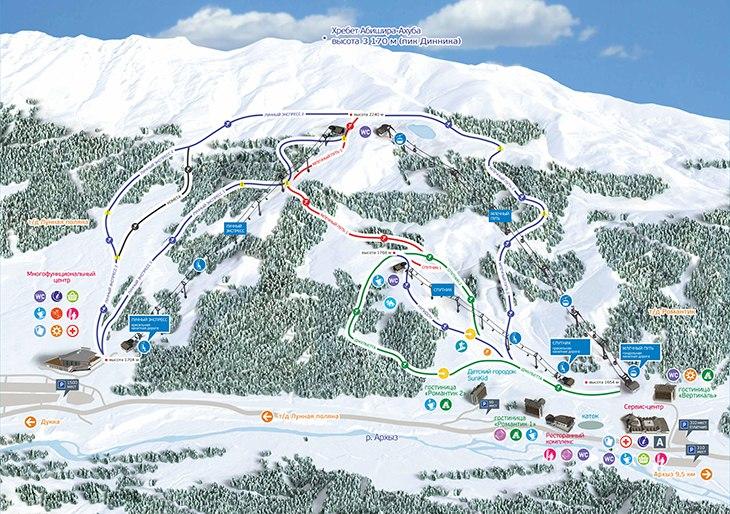 Зона катания на курорте «Архыз» будет увеличена до 30 км