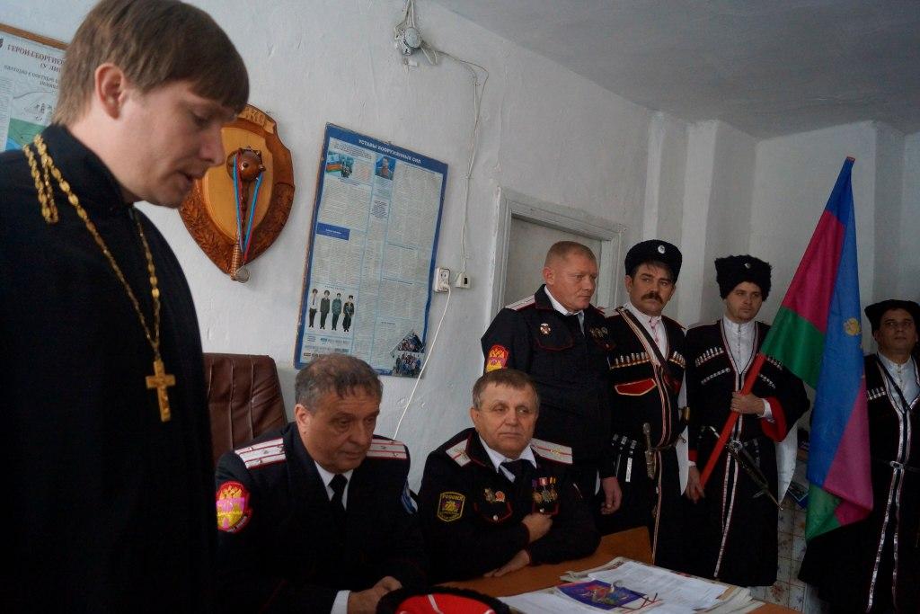 В станице Кардоникской прошел отчетный сбор казаков