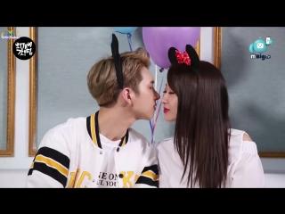[RUS SUB] VIXX KEN X Nine Muses Kyungri, K-pop idols' tip for perfect first kiss! [Oh my God TIP! 9]