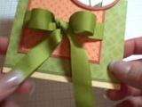 два способа завязывания банта непосредственно на открытках
