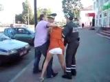 Пьяная Русская девочка в Беларуси (конфликт с ГАИ)