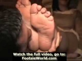 Kiss Foot Lick Feet Slave Nylon Feet