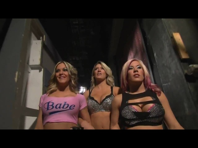 TNA The Beautiful People Backstage On Impact 12/17/09
