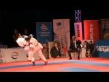Karate Kumite Top Ten 2012 Zagreb Inga Sherozia - Meltem Hocaoglu