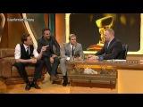 Tom Hiddleston, Chris Hemsworth and Mark Ruffalo at the germn TV Show