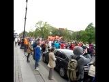 Пробег роллеров по Невскому проспекту посвящённый 70-летию победы