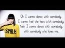 Jessie J - I Wanna Dance With Somebody (Whitney Houston cover), lyrics on screen.
