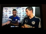 Eden hazard and Ashley cole interview after Chelsea v Newca