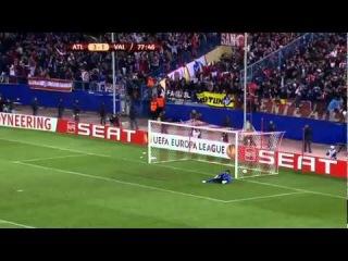 (HD) Radamel Falcao FANTASTIC GOAL !! Atletico Madrid - Valencia 4:2 - 19.04.2012