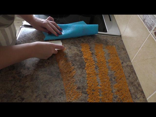 Кружево для украшения тортов на основе желатина/lace for cake recipe(English subtitles)