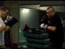 Chuck Liddell sparring with Gilbert Yvel and Martin De Jong