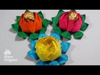 #Оригами: цветок #Лотоса из бумаги (#Origami: #Lotus #flower from #paper)