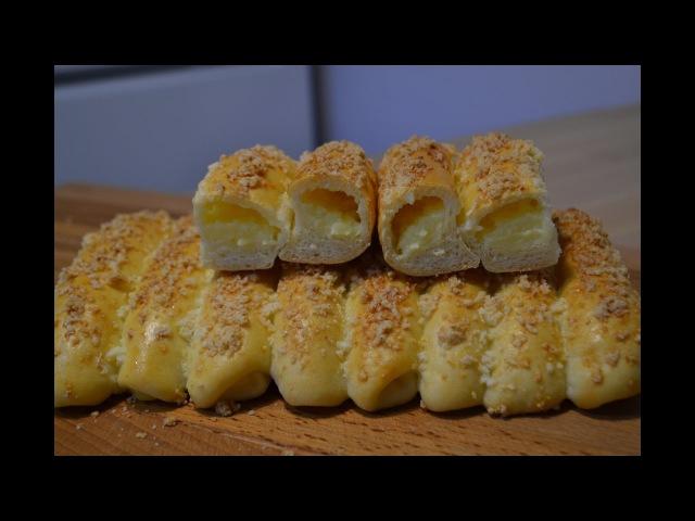 Сдобные Булочки Сайки с Заварным Кремом Buns with custard