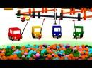 Развивающие 3D мультики. 4 МАШИНКИ: лодочка. Мультики про машинки для малышей.