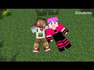Minecraft Мультики - Майнкрафт Любовь: Диллерон и Миникотик (Майнкрафт Анимация)