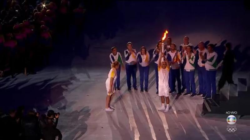 Acendimento da Pira Olimpica 2016