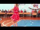 Новогодняя ёлка в техникуме. Танец Анастасии Кольги