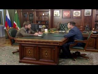 Провёл рабочую встречу с начальником Управления Министерства юстиции России по Чеченской Республике Масхудом Таймасхановым