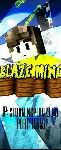 Приглашаем тебя на наш сервер BlazeMine версии 0.15.0-0.15.9
