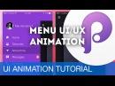 Menu UI/UX Animation • UI/UX Animations with Principle Sketch (Tutorial)
