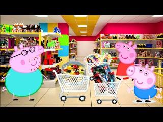 Свинка Пеппа на русском Идем за покупками  Новые куклы Винкс, Тачки  Peppa pig  New toys  Winx