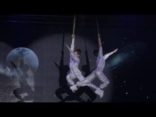 Цирк АП (Circus UP) на Космофесте.Воздушные гимнасты на ремнях