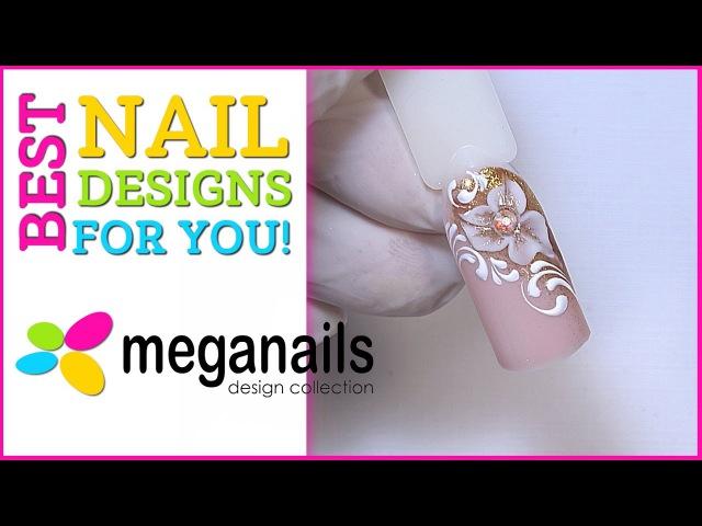 Дизайн ногтей с лепкой твердыми гелями. Пошаговый мастер класс