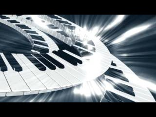 Музыка. Клавиши рояля. АНИМАЦИЯ. ФУТАЖ.
