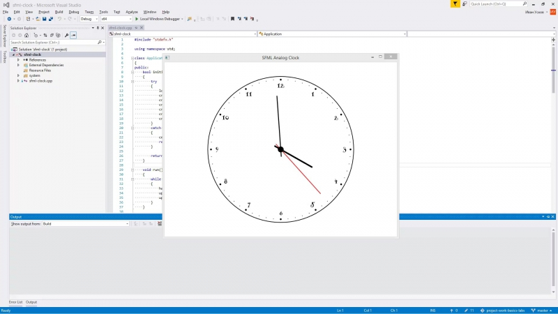 My sfml clock
