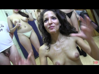 BUKkake show Sabine HD - facial cum shower cumshots hardcore mature spanish latin italian whore