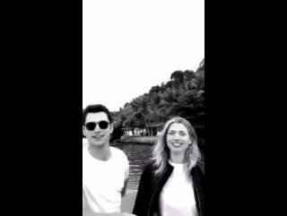 Sean O'Pry & Hana Jirickova on Paco Rabanne's Snapchat in Rio