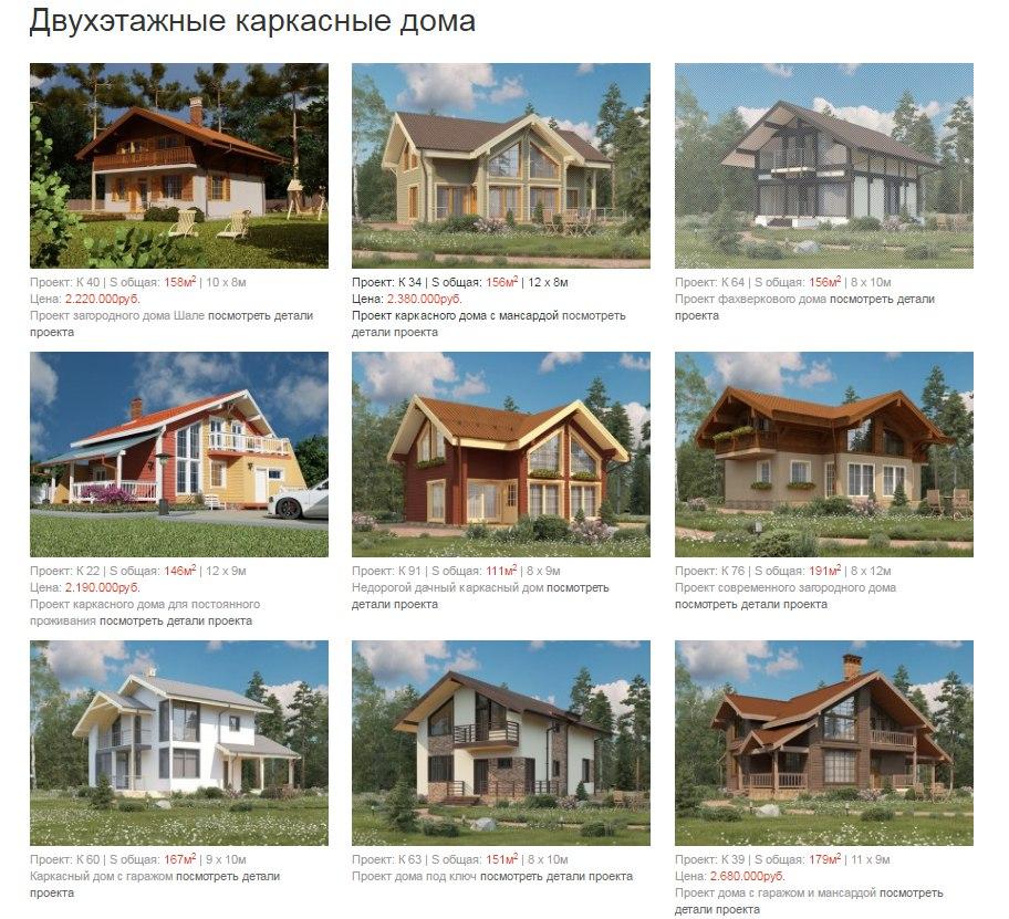 Двухэтажные каркасные дома СПб и ЛО