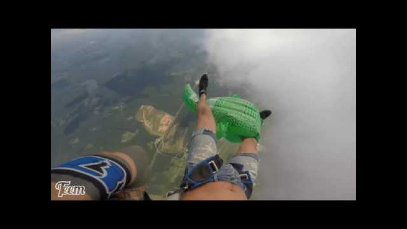 Friday Freakout: Skydiver Spins Out Of Control... With An Inflatable Alligator