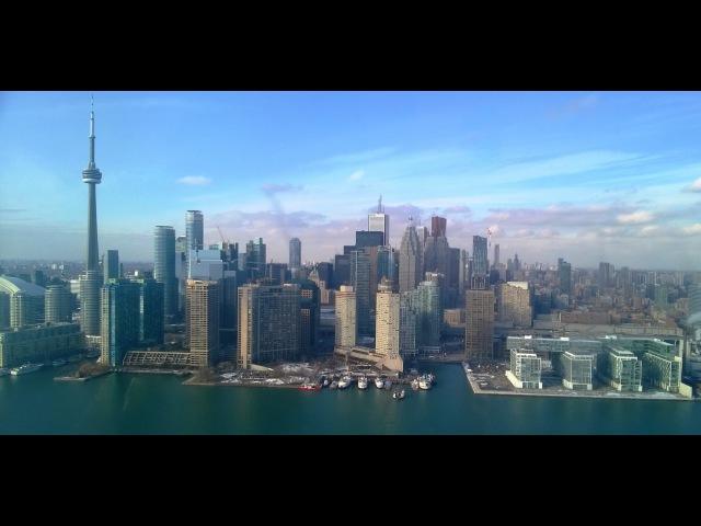 Фантастический вид Торонто с высоты птичьего полета