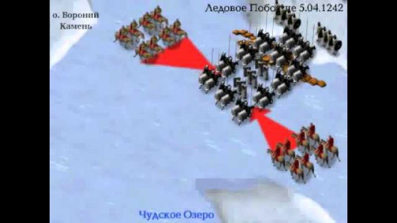 Ледовое побоище, анимация