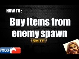Smite: How to buy items from the enemy spawn