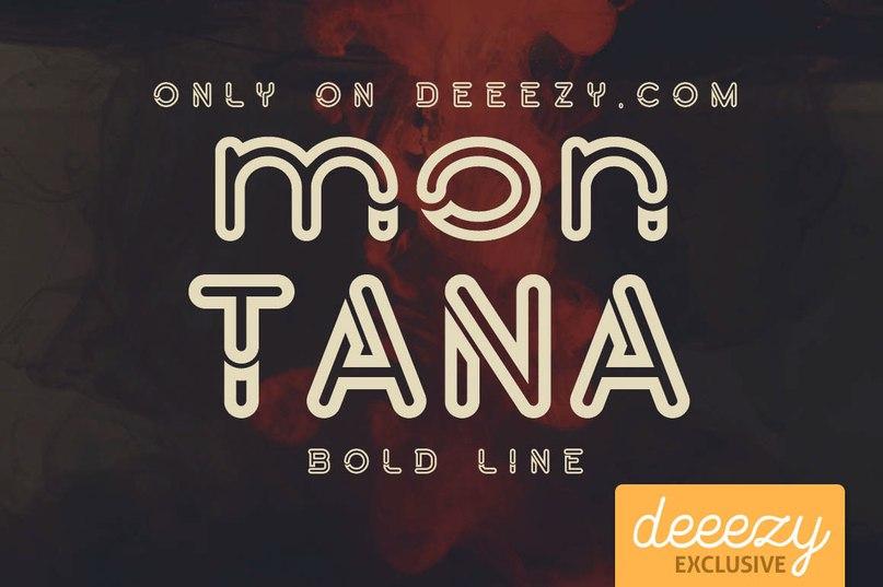 Montana Bold Line шрифт скачать бесплатно