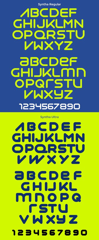 Download syntha font (typeface)