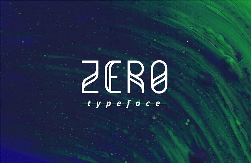 Zero шрифт скачать бесплатно