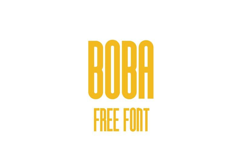 Boba шрифт скачать бесплатно