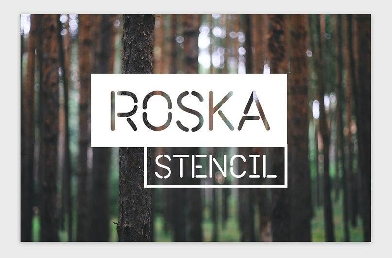Download roska font (typeface)