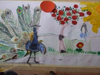 про павлина, синичку, непослушное солнце и пингвинов.