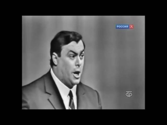 Pavarotti, La Donna e Mobile from Verdis Rigoletto. Moscow, 1964