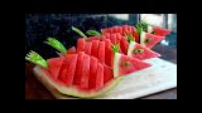 HOW TO QUICKLY CUT AND SERVE A WATERMELON BIRDS!!