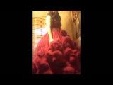 Red cloud dress crossdressing 1