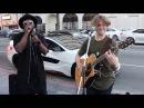 Surprises street performer